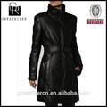 2015 abrigo de moda de mujer abrigos largos de cuero