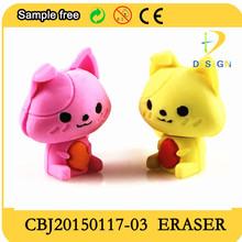 2015 custon puzzle eraser, different animal shape eraser for children