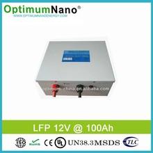Deep cycle LiFePO4 12V 100Ah solar battery