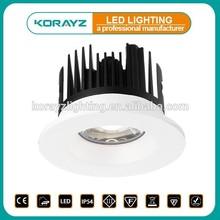 KORAYZ fire rated Lighting interchangeable bezel 10W COB IP54 factory good price led lux down light