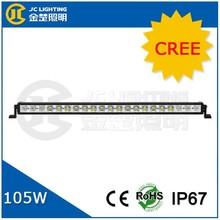 5w leds 30 inches 105w straight spotlights super bright led light bar for train, boat, atv, jeep, 4md, coated led light bars