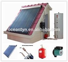 split pressurized solar water heater, vacuum tube solar collector