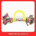 Limpeza dos dentes Toy Cat Dog colorido brinquedo de corda de algodão promoção Crochet brinquedos do cão