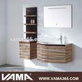Vama água- resistente parede moderna madeira maciça armário de banheiro