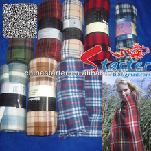 Scottish Plaid Fleece Throw Blanket