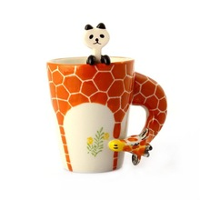 alibaba china supplier manufacturing high quality new products ceramic 3d giraffe mug
