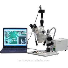 AmScope Supplies 2X-225X Semi Conductor Circuit Inspection Zoom Stereo Microscope + 10MP Camera