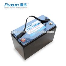 Super long life lifepo4 12v 100ah solar storage battery pack
