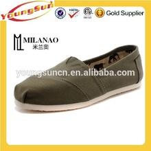 2015 Hot sell plain green cheap EVA Sole wholesale canvas shoes