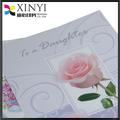 Chino prima personalizada de impresión de papel / papel de la invitación de la boda tarjetas