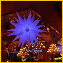 Hanging star led inflatable party decoration