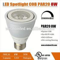 UL&cUL listed par 20 8w led spot light bulb