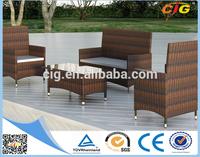 Popular Different PE Rattan Fiberglass Outdoor Furniture