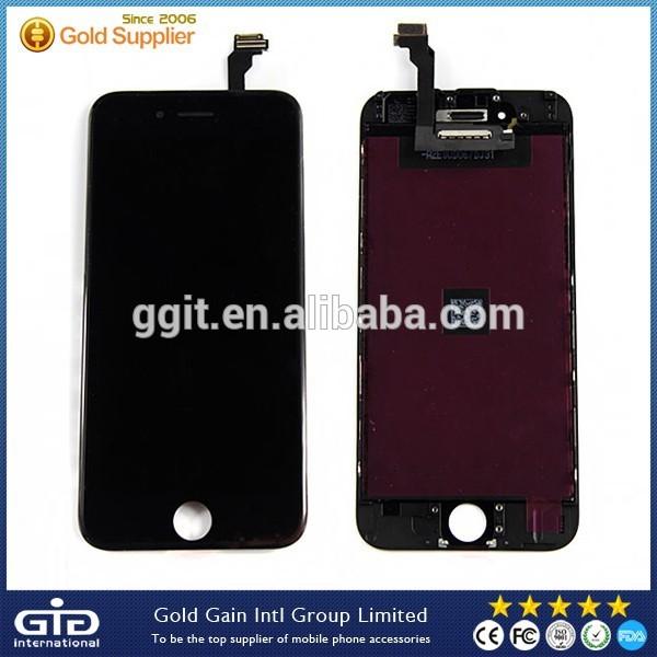 Ggit100%ต้นฉบับใหม่สำหรับiphoneซ่อมแซมส่วนหน้าจอlcd6,6จอแอลซีดีประกอบสำหรับiphone