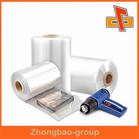 super clear package material pvc heat shrink film/plastic shrink film/shrink wrap in rolls