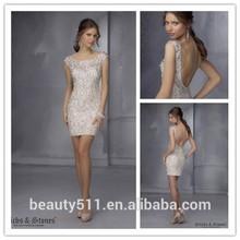 Hot Sale 2015 Beaded A-line Sweetheart Neckline Chiffon mini homecoming dresses short party dresses SH99
