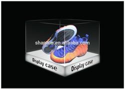 Acrylic display case with white led light up