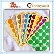 2015 Round paper label sticker dots self adhesive
