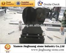 High polished shanxi black granite tombstone
