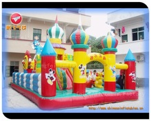 amusement inflatable castle park, hot design inflatable bouncer for kids
