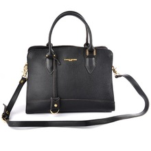Top Grain Cowhide Black Tote Ladies Women Genuine Leather Bag