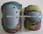 Foam padding double straps military knee and elbow pads