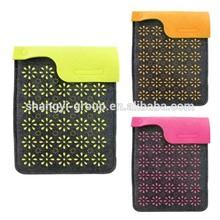 (7-04)Beautiful Laser Cut Flower Case for Smart Felt Pad Sleeve Tablets Case