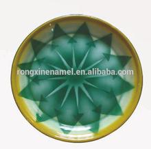 25cm Enamel serving tray, enamel steel round tray, enamel decorative plate, food plate, tea pan