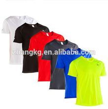 Wholesale men dry fit bird eyes run t shirts,polyester plain round neck running t shirt