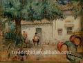 aceite de pinturas orientales de bricolaje pintura al óleo por número de pintura de la lona