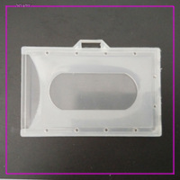 enclosed clear color hard plastic ID card holder, PP material name card holder,buss card holder