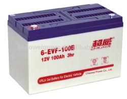 EVF Series VRLA Battery for Electric Vehicles, 12V 100Ah/3hr