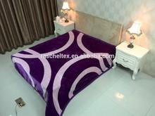 100% Polyester supersoft span design mink blanket