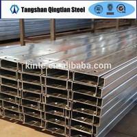 galvanized steel c channel standard sizes