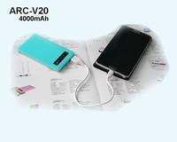 4000mAh smartphone power bank portable battery