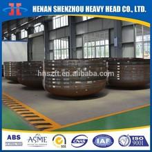 Black steel dish head for storage tank