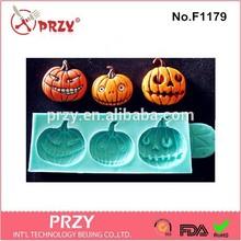 pumpkin silicone fondant mold , silicone fondant mold for Halloween