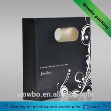 Jewelry shopping paper bag/art paper shopping bag/black shopping bag