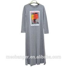 Abaya customized Islamic clothing fashion muslim dress Knitted Muslim maxi Arabic robes long sleeve dress