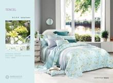 king size albergo set biancheria da letto reattiva fiore set di piumini stampati e copripiumini di nozze di lusso 40s tencel set di camera da letto moderna
