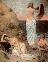 nude lady on beach paintings diy diamond painting