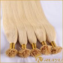 Eurasian hair flat/u/i tip hair extension wholesale/pre bonded hair extensions