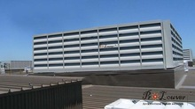 Aluminum perforated acoustic louver for Plant room openings,cooling towers, condenser plant