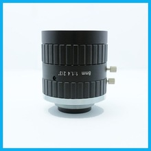 china top ten selling products 5.0MP 8mm fixed focus lens manual iris FA lens 8mm C mount 2/3'' machine vision lens
