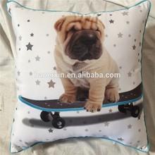 character animal pillow,digital printing square cushion