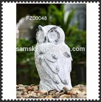 garden antique white water fountain eagle owl