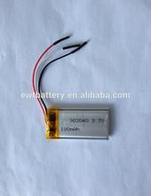 LP302040 li-polymer 3.7v 180mah