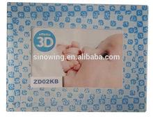 3D plastic photo picture frame