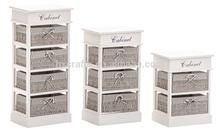 Grey Paper Rope Basket Bedroom Furniture Set