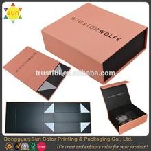 2015 new design flat pack cardboard boxes hard cardboard box for gift